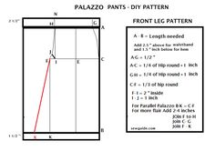 Learn how to sew a STYLISH PALAZZO PANTS with this detailed tutorial. 2 ways of drafting the pattern are given out of which first is the easiest Plazzo Pants Pattern, Pants Pattern Free, Free Pattern, Pattern Ideas, Sewing Pants, Sewing Clothes, Clothing Patterns, Sewing Patterns, Sewing Ideas