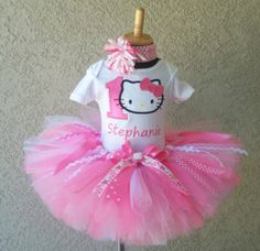 Pretty In Pink Hello Kitty Personalized Girls Tutu Outfit
