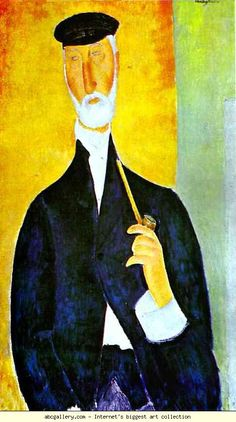 Amedeo Modigliani. Man with Pipe (The Notary  of Nice). Olga's Gallery.