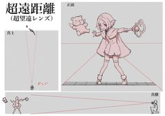 絵の見え方が変わる! 広角キャラと望遠キャラの描き分け術 レンズまとめ How to draw characters as seen through wide-angle and telephoto lenses | Illustration tutorial Lens Effects Recap
