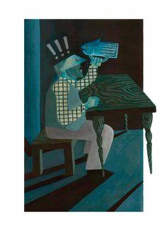 """Illustrazione di Gianluigi Fanelli realizzata per la mostra """"I primi dieci"""" che festeggia il decennale del corso di fumetto con le opere di giovani diplomati."""