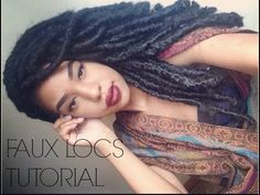 Faux Locs Tutorial with Marley Hair, Dreadlock extentions | Protective S...