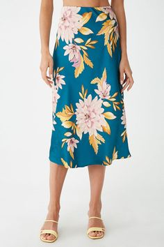 Forever 21 is the authority on fashion & the go-to retailer for the latest trends, styles & the hottest deals. Shop dresses, tops, tees, leggings & more! Casual Dresses For Teens, Satin Skirt, Gray Skirt, Floral, Latest Trends, Midi Skirt, Skirts, Outfits, Style