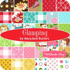 Would love to use some of these fabrics in a little vintage camper! Moda's Glamping line by Mary Jane Butters Vintage Trailer Decor, Vintage Trailers, Homemade Curtains, Tiny Trailers, Retro Fabric, Vintage Caravans, Camping Glamping, Fabric Yarn, Charm Pack