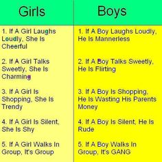 5 facts about Boys vs Girls