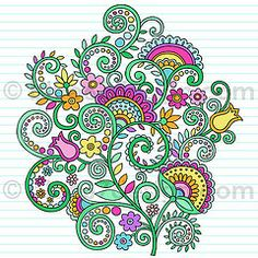 Notebook Doodle Rainbow Vines and Flowers by blue67design | Flickr - Photo Sharing!
