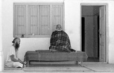 Neem Karoli Baba and Ram Dass