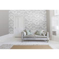I Love Wallpaper™ Glamour Tree Wallpaper Grey / Silver (ILW980065) - Wallpaper…