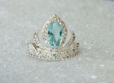 Elsa Frozen Tiara Princess Ring Anna Frozen Crown