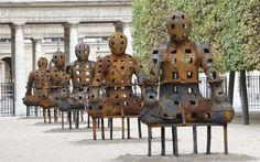 The marvel of Spain's iron man Xavier Mascaró's sculptures are eerie, timeless and evocative – do catch them at the Saatchi Gallery this autumn, says Alastair Smart/The Telegraph