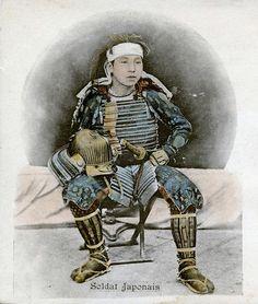 Samurai, 1900 || French postcard