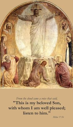 Catholic Holy Cards - Transfiguration, Aug.6