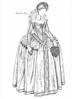 MILLENNIUM BRIDE  A young bride looks back through 1000 years of history in trying to decide what to wear for her wedding.[Elizabethan bride]