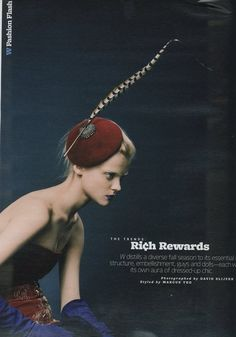 "W July 2008. ""Rich Rewards"" Photographer: David Slijper Models: Viktoriya Sasonkina"