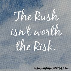 To the Momma I followed to work this morning. Please slow down. Please pay attention. The Rush isn't worth the Risk. Trust me. There's time. http://www.mommyverbs.com/2014/11/rush-momma-followed-work-morning/