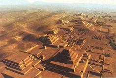 Pirâmides no Peru.Cobrindo 0,6 sq. Milhas, Cahuachi era uma vez um dos mais importantes centros cerimoniais e maiores para para a cultura Nazca, no Peru.