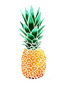 Pineapple Illustration by marieluney on Etsy, $20.00