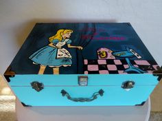 Personalized Disney Alice Decorative Jewelry Box by ShelbyMegArt