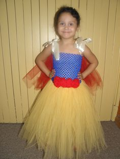 Snow White Tutu Costume (front) Can be made to order, just leave comment