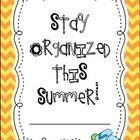 This little packet will help keep all those running to-do lists you have in one place! There are June, July, and August calendars in color and B/W ...