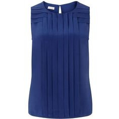 I love the color and the material. The Ondine sandwashed silk top is an architecturally inspired design, with structured pin-tuck detail to distinguish the look. Sleeveless with a fluid drape, t… Work Fashion, Fashion Outfits, Women's Fashion, Blouse And Skirt, Mode Hijab, Mode Style, Western Wear, Silk Top, Dress Patterns