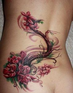 Beautifull Flower Tattoo Girls 2014 : Flower Tattoo Design For Girls On Back