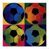 Ball Four - Soccer  Fine Art Print