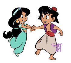 Some cartoon-y disney drawings chibi - cartoon characters di Aladin Disney, Walt Disney, Disney Couples, Disney Love, Disney Magic, Disney Art, Chibi, Jasmine Drawing, Disney Princess Jasmine