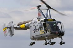 HH-43 Huskie. Used by the USAF, USN, & USMC as a rescue and firefighting helicopter. Unusual and fun to watch fly.