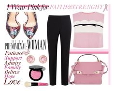 """""""I Wear Pink for Faith&Strenght"""" by nerma10 ❤ liked on Polyvore featuring Bling Jewelry, Bebe, Henri Bendel, Giambattista Valli, Paul Smith Black Label, Stephen Webster, Swarovski, Bobbi Brown Cosmetics, contestentry and IWearPinkFor"""