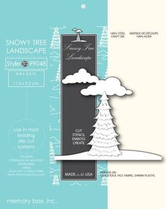 Memory Box Die SNOWY TREE LANDSCAPE 99048