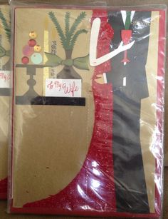 LOT of 6 New Sealed PAPYRUS Christmas To Wife From Husband Greeting Cards #Papyrus #Christmas