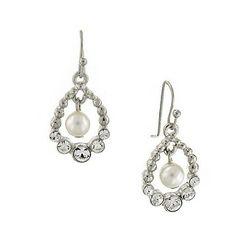 Zarina Cloud Pearl and Crystal Drop Earrings