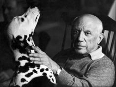 Celebrities-and-their-dogs-1 Pablo Picasso