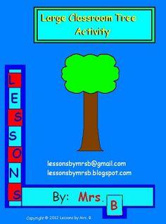 "FREE LESSON - ""Large Classroom Tree"" - Go to The Best of Teacher Entrepreneurs for this and hundreds of free lessons.   PreKindergarten - 2nd Grade  #FreeLesson   http://www.thebestofteacherentrepreneurs.net/2013/02/free-misc-lesson-large-classroom-tree.html"