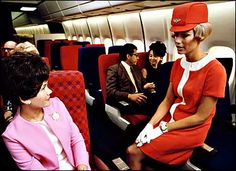 1968: United Airlines introduces an A-line dress for its stewardesses — a marked departure from the ubiquitous skirt-suit that ruled the more conservative airlines for 30 years