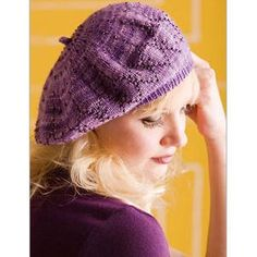 Ladies' Art Deco Beaded Beret Knitting Pattern from Interweave. A really special little knit. $5.00