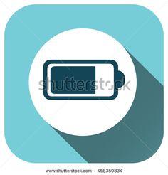 Battery icon vector logo for your design, symbol, application, website, UI - stock vector