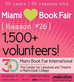 Reason #26 Why We Love Miami Book Fair: 1,500+ Volunteers!