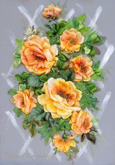 Ricamo  La ricchezza di rose 2.  Silk di SilkRibbonembroidery