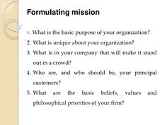 Vision And Mission Statement Example  Business