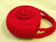 #Crochet Flower Handbag Purse #TUTORIAL Free crochet project