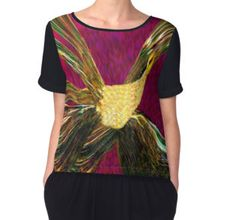 'The Golden Phoenix Rising' Women's Chiffon Top available at http://www.redbubble.com/people/chrisjoy/works/1857495-the-golden-phoenix-rising