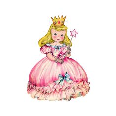 Pink Princess  ready to print digital image no by Lollipopisland, $3.50