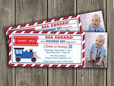 Printable Train Ticket Birthday Invitation