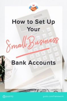 banking finance How to Set Up Your Small Business Bank Accounts. Read these small business bookkepping tips to keep your bookkeeping organized so you save time at tax season. Small Business Banking, Small Business Bookkeeping, Business Bank Account, Small Business Plan, Small Business Marketing, Business Planning, Business Tips, Creative Business, Online Business
