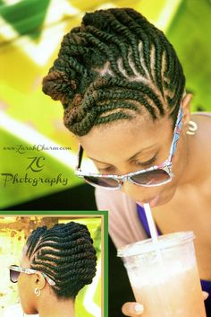flat twist updo by  zaracharm.com