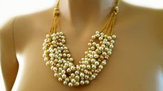 Wedding Necklace Wedding Jewlery Bridal by PearlJewelryNecklace, $82.00