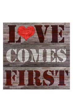 Green Leaf Art 'Love Comes First' Wall Art available at #Nordstrom
