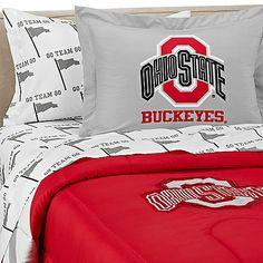 Ohio State University Dorm Bedding Set #HTCOneRed
